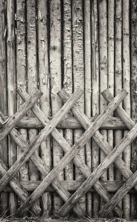 old wooden fence - close up photo