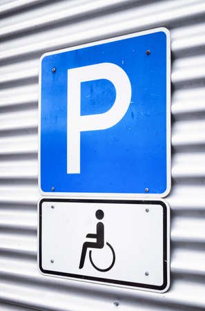 disabled parking sign: disabled parking sign