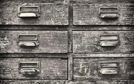 filing cabinet: old filing cabinet - front view