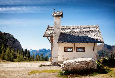 old church at the european alps