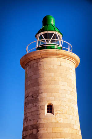 old lighthouse at valletta, malta photo