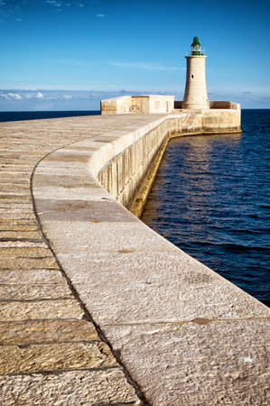 old lighthouse at valletta - malta photo