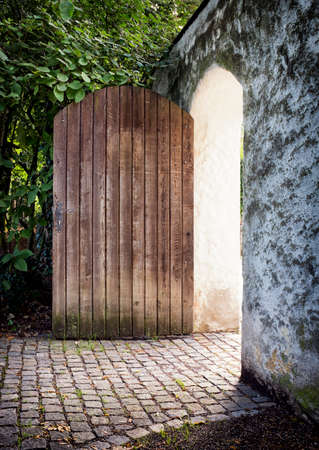 old door at a park photo