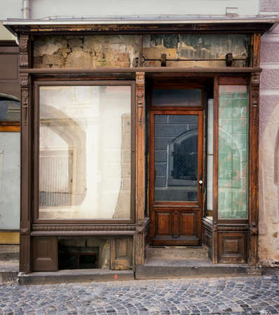 old store front - space for text Stock Photo