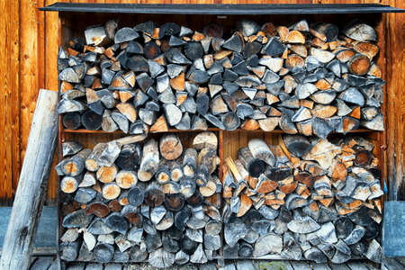 firewood at a farm - nice background photo