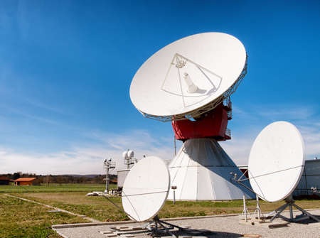 radio telescope: modern satellite dish - radio telescope