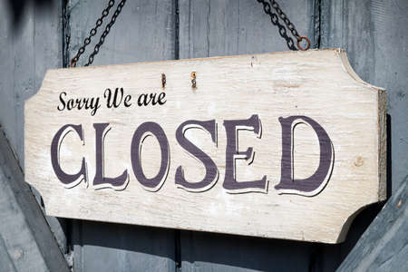 closed sign at a shop - nice background