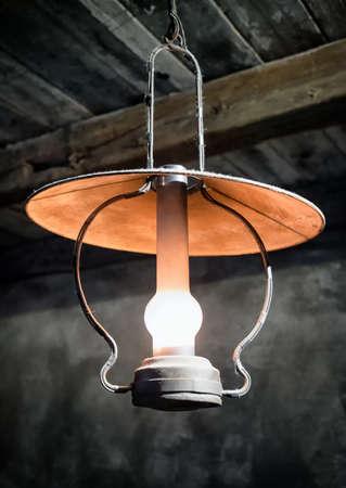 oillamp: old petroleum lamp Stock Photo
