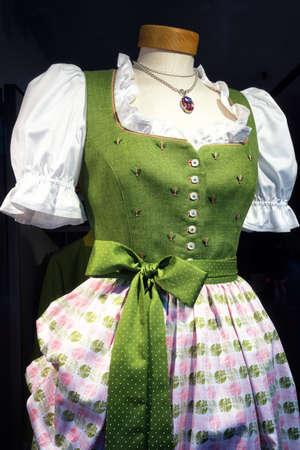 dirndl dress: a typical bavarian dirndl dress