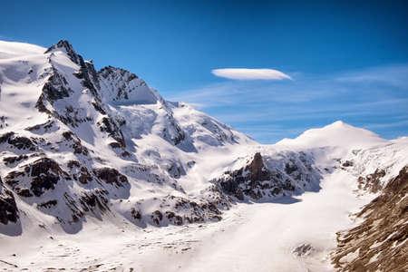 grossglockner: grossglockner mountain in austria  european alps