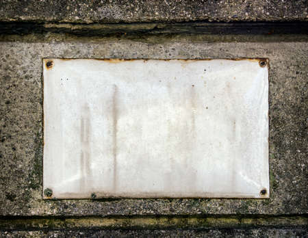 numberplate: blank sign at a wall  background with space for text