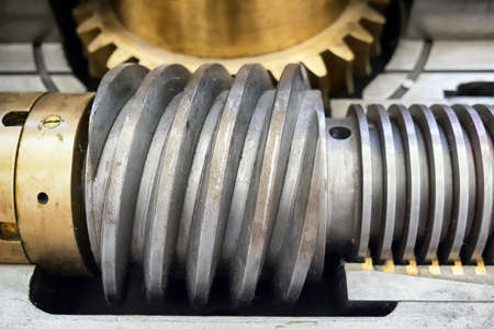 worm gear: old worm gear - close up