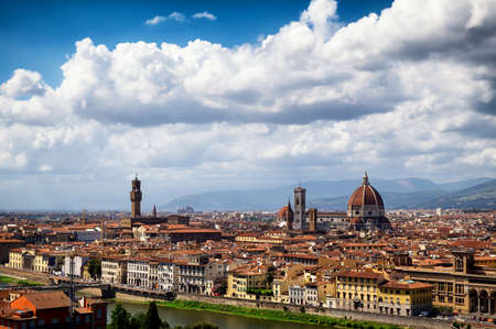firenze: old town of florence - firenze in italy