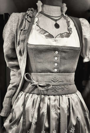 specific clothing: a typical bavarian dirndl Stock Photo