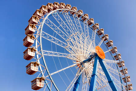 famous ferris wheel at the oktoberfest in munich - germany