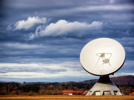 radio telescope: modern satellite dishe - radio telescope
