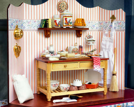 beautiful historic dollhouse - close-up Banque d'images