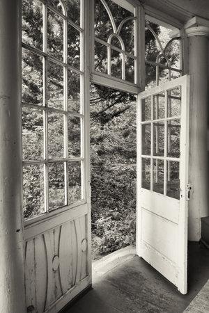 old wooden winter garden - nice background