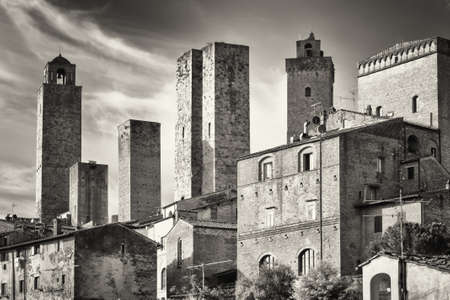 historic building in san gimignano - tuscany - italy