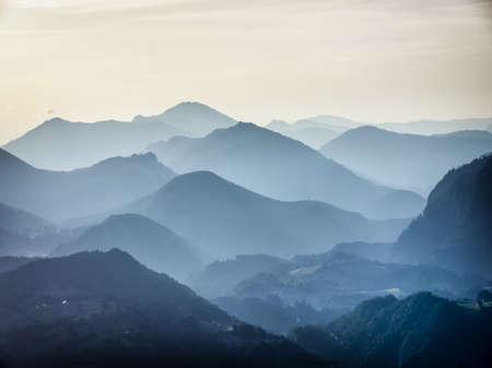 ochtend op de Europese Alpen