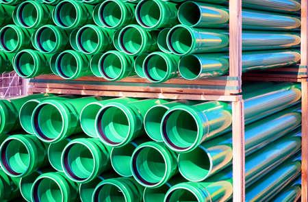 materiales de construccion: grupo de nuevos tubos de pl�stico