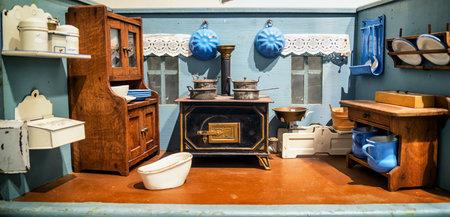 dollhouse: beautiful historic dollhouse - close-up Editorial