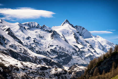 grossglockner: grossglockner mountain in austria - european alps
