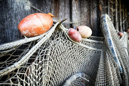 trawler net: part of an old fishing net