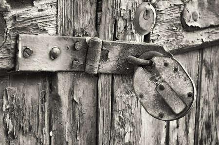beautiful old padlock - close-up photo