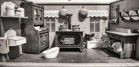 dollhouse: beautiful historic dollhouse - close-up Stock Photo