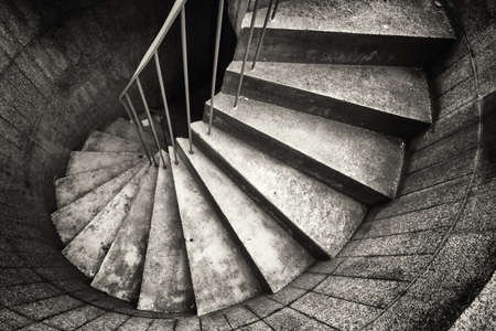 old fashioned sepia: beautiful spiral staircase