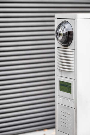 intercom: modern intercom - loudspeaker with camera
