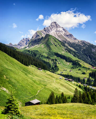 mountains and sky: biberkopf in austria - european alps Stock Photo