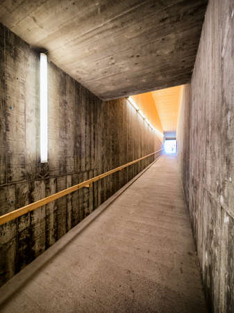 underground tunnel at a subway station