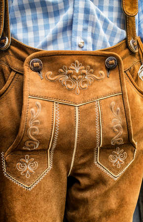 specific clothing: part of a typical bavarian tracht Stock Photo