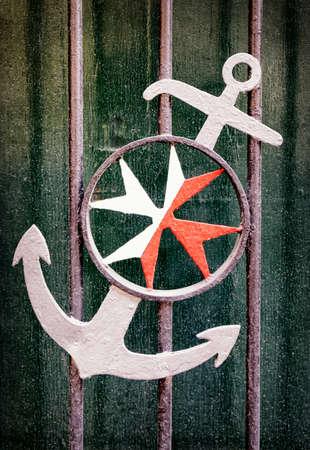 iron cross emblem: old coat of arms of malta Stock Photo