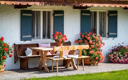 backyard at an old house - bavaria photo