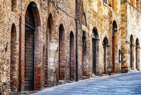 old town of san gimignano - tuscany - italy photo