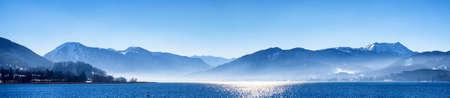 tegernsee lake in bavaria - winter