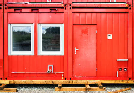 new red mobile home container photo