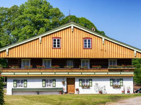 allgau: typical old fashioned farmhouse in bavaria
