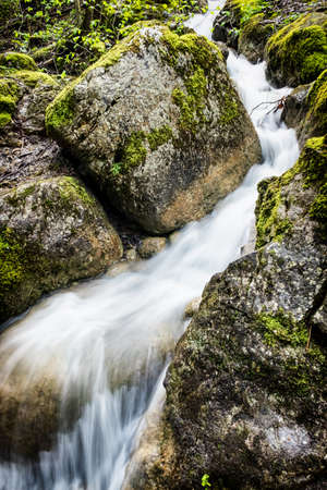 smal: smal waterfall in austria - wideangle