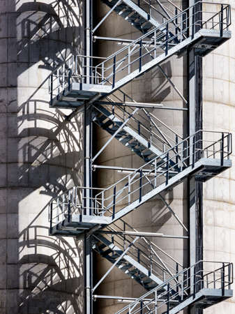 emergency exit: modern emergency exit at a tower Stock Photo