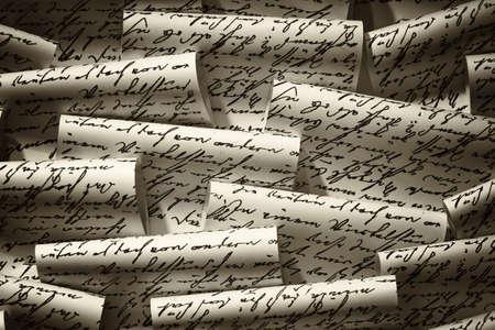disarrangement: handwritten notes closeup