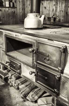 old kitchen at a farm photo