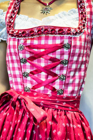 tracht: part of a traditional dirndl - tracht