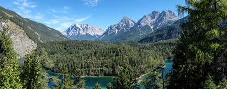zugspitze mountain: zugspitze mountain - european alps - panorama
