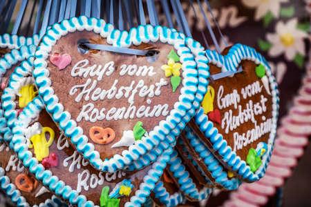 gingerbread heart: typical souvenir at the oktoberfest in munich - a gingerbread heart - lebkuchenherz