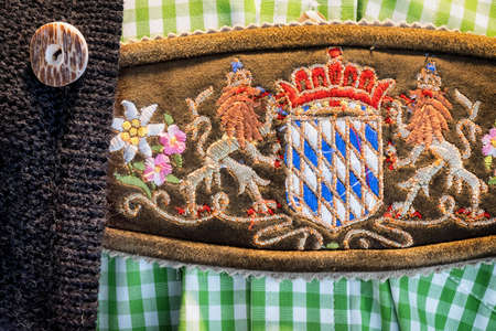 specific clothing: part of a typical old bavarian tracht