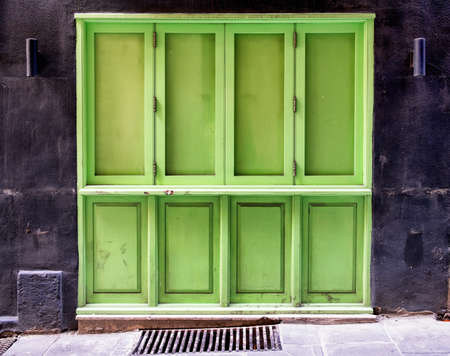 store front: old store front - nice facade Stock Photo